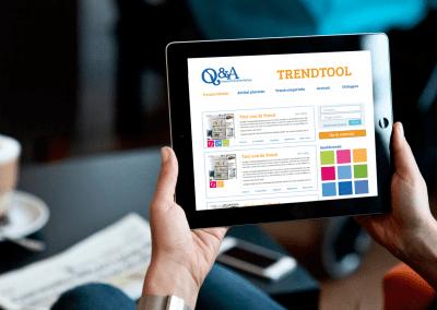Q&A Trendtool | UX design