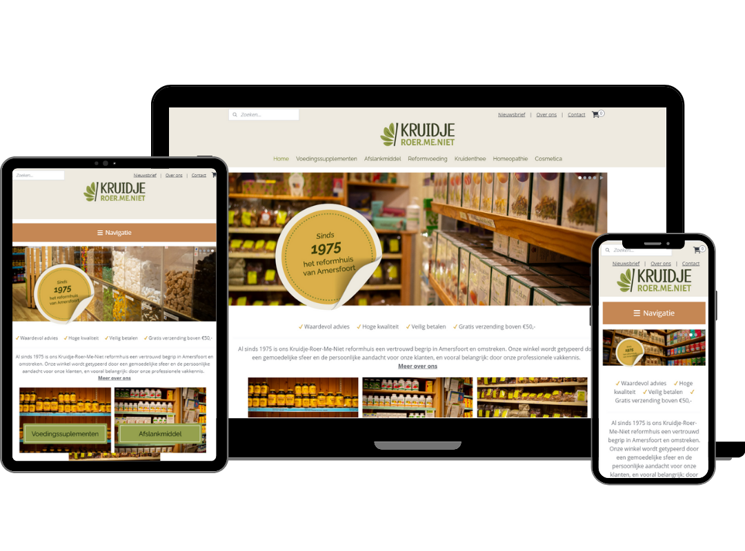 KRMN webshop design | 2handenvrij