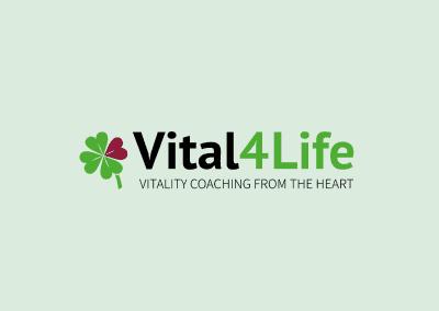 Vital4Life | Logo & huisstijl